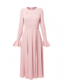 Yahvi Pale Pink Tailored Crepe Dress