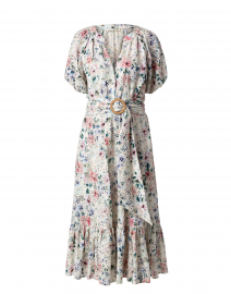 Caricia Ivory Floral Eyelet Midi Dress