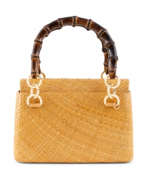 Laila Toast Straw Top Handle Bag