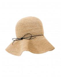 Navy Ribbon Packable Traveler Hat