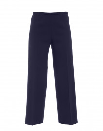 Amandine Navy Stretch Crepe Wide Leg Pant