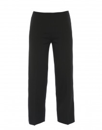 Amandine Black Stretch Crepe Wide Leg Pant