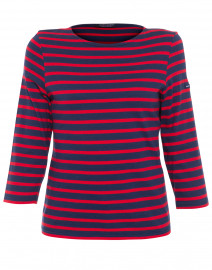 Galathee Navy and Red Striped Shirt