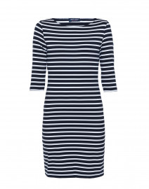 Propiano Navy and White Striped Dress