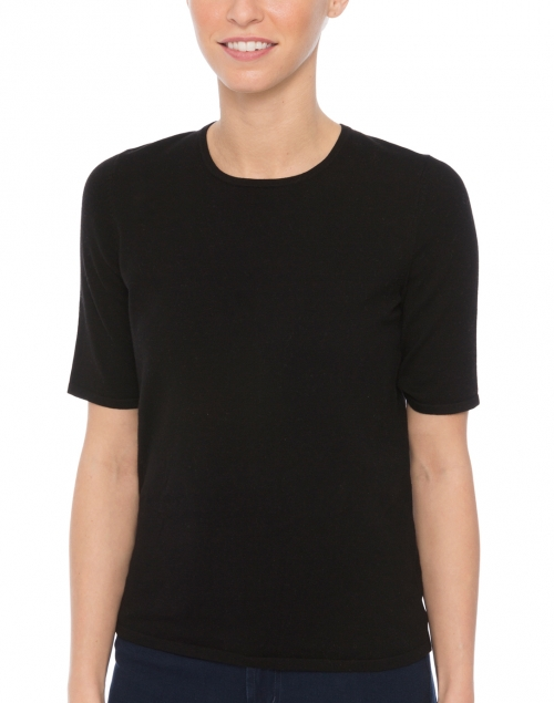 Belford - Black Cotton Knit Top
