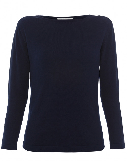 Blue - Navy Pima Cotton Sweater