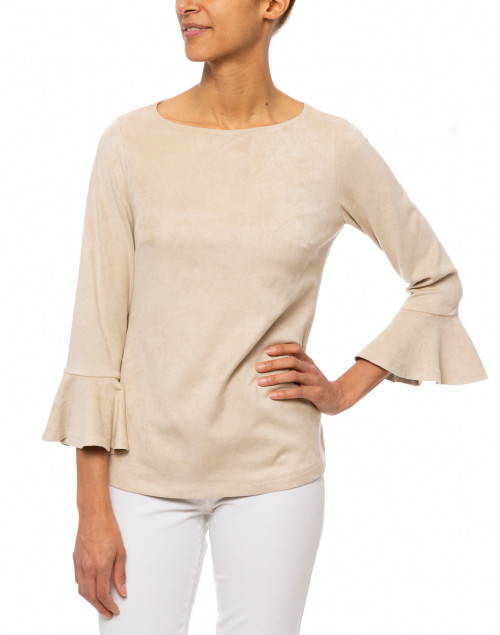 Sail to Sable - Camel Faux Suede Top