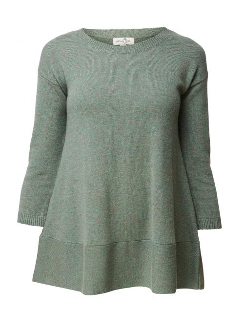 Cortland Park - Saint Tropez Green Cashmere Swing Sweater