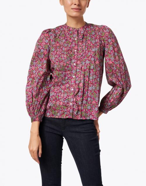 Banjanan - Jennifer Boysenberry Floral Printed Cotton Shirt