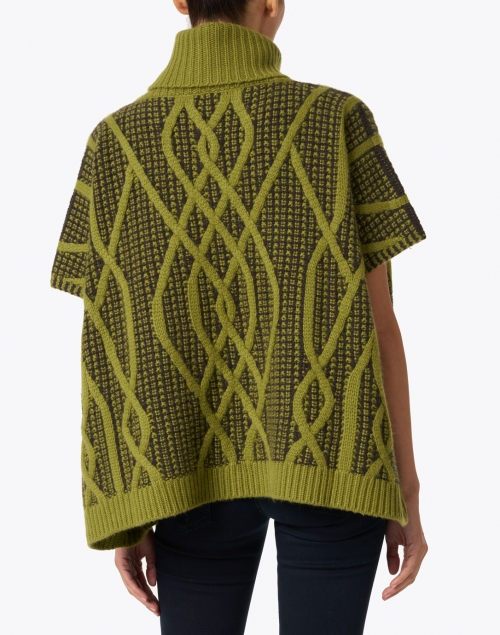 TSE Cashmere - Green Oasis Cashmere Cable Poncho Sweater