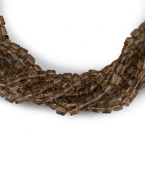 Kenneth Jay Lane - Smokey Grey Beaded Necklace