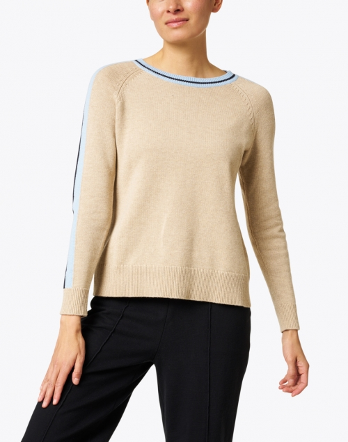 Sail to Sable - Camel Merino and Cotton Sweater