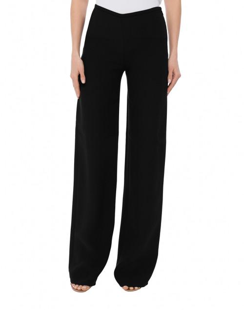 Emporio Armani - Black Wide Leg Silk Cady Pant