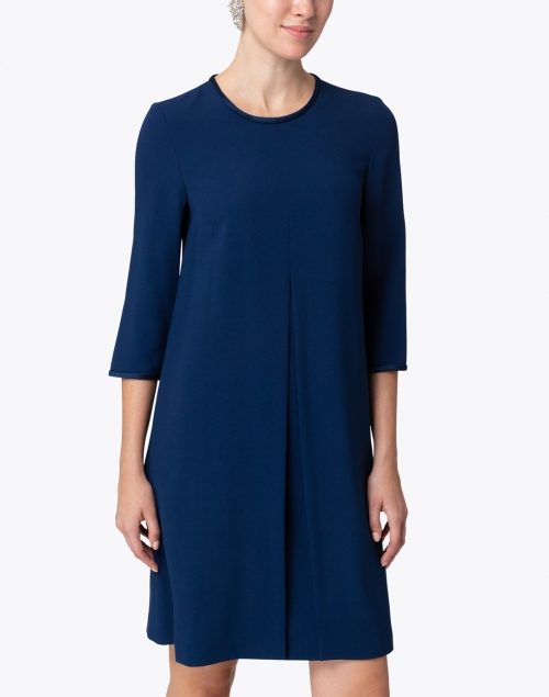Les Copains - Blue Satin Crepe Swing Dress