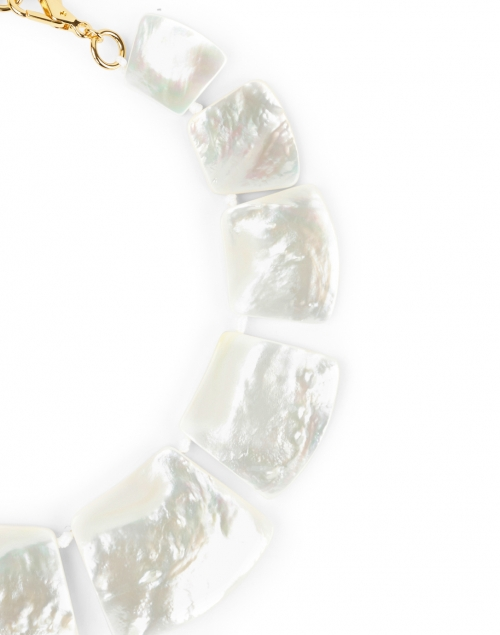 Nest - White Mother of Pearl Statement Necklace