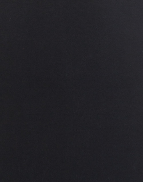 Majestic Filatures - Black Crew Neck Long-Sleeved Stretch Viscose Top