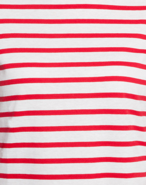 Saint James - Galathee White and Red Striped Shirt