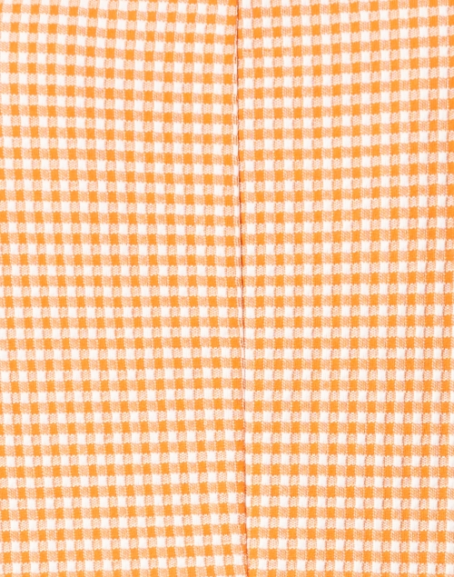 Harris Wharf London - Clementine and White Gingham Seersucker Cotton Blazer