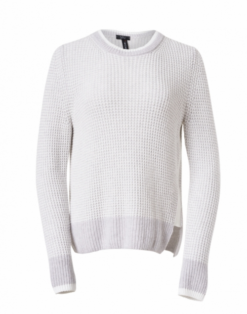 Marc Cain Sports Light Grey Wool and Cashmere Waffle Knit Sweater