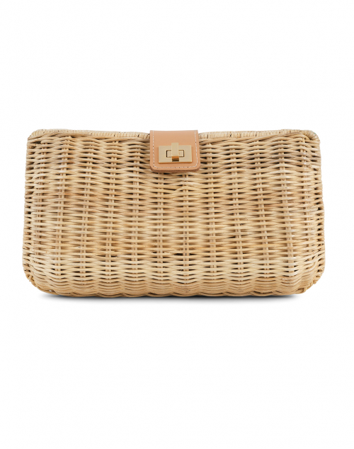Kayu Kaine Natural Woven Wicker Clutch