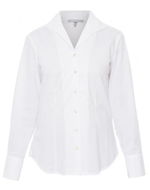 Hinson Wu - Donna White Button Down Stretch Cotton Shirt