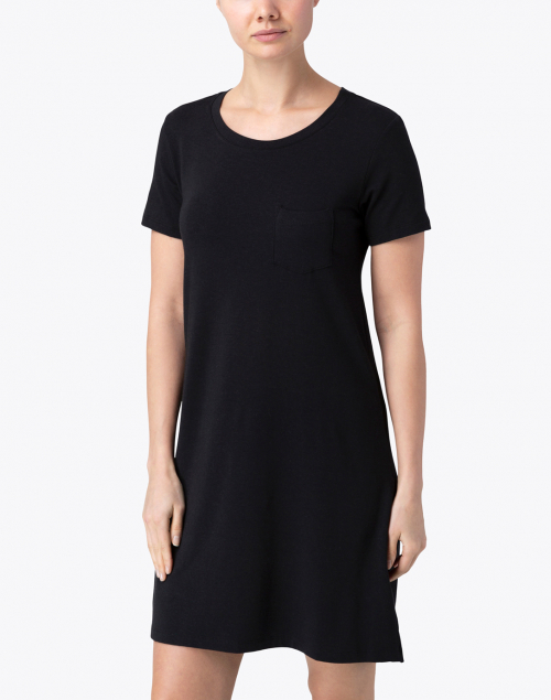 Southcott - Elinor Black Bamboo Cotton T-Shirt Dress