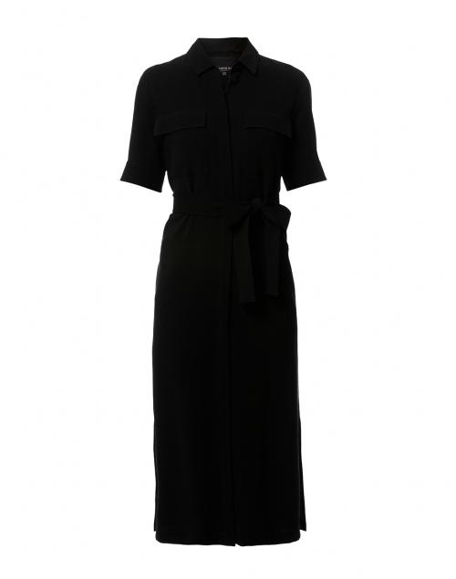 Lafayette 148 New York - Doha Black Finesse Crepe Shirt Dress