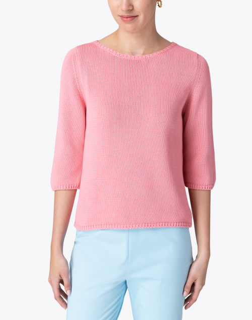 Leggiadro - Sea Coral Cotton Knit Sweater