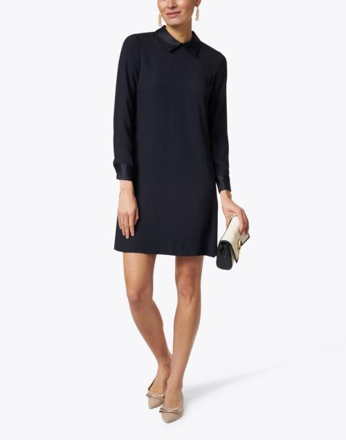Goat - Karmel Dark Navy Cady Satin Dress