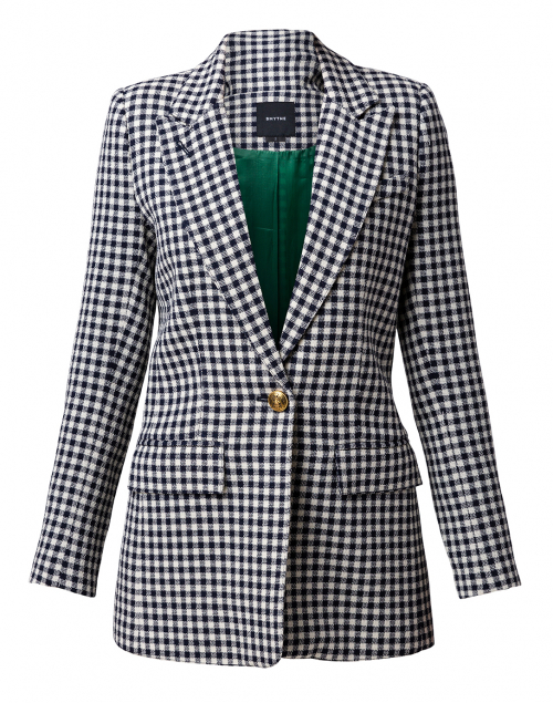 Smythe Navy and White Check Blazer