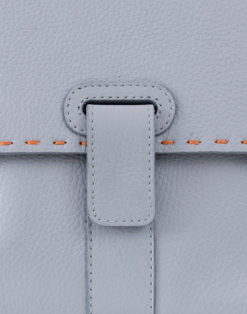Lucque - Orleans Pale Blue Pebbled Leather Tote Handbag