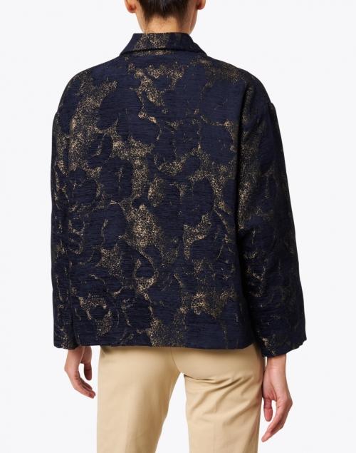 Seventy - Navy and Gold Jacquard Jacket
