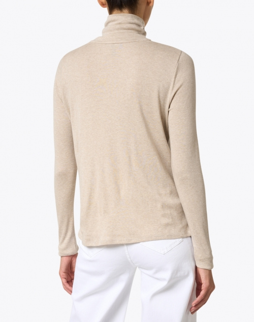 Eileen Fisher - Wheat Ribbed Pima Cotton Top