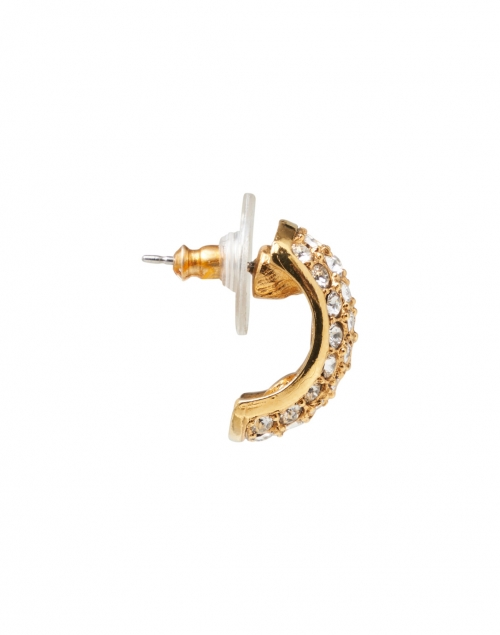 Jennifer Behr - Liesel Crystal Antique Gold Mini Hoop Earring