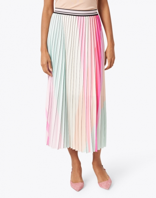 Marc Cain - Multicolored with Black Trim Pleated Skirt
