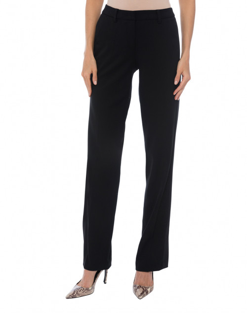 Cambio - Morgan Wide Leg Trouser with Side Satin Inset