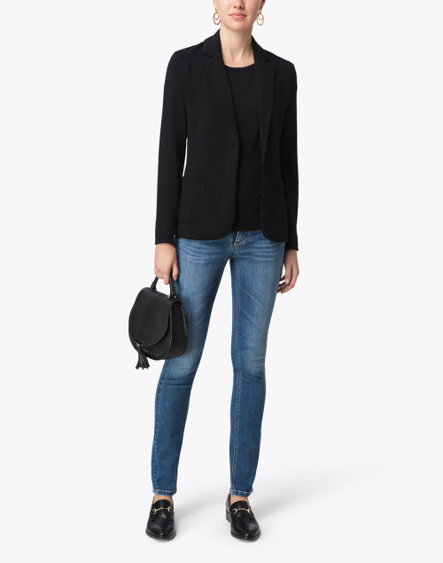 Majestic Filatures - Black Stretch French Terry Blazer