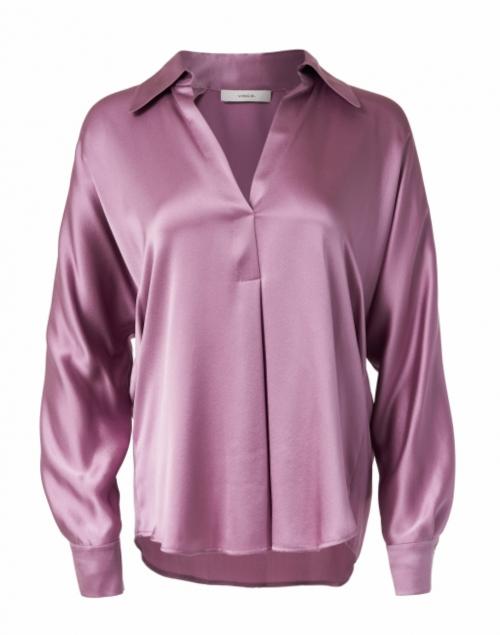 Vince - Pale Lavender Silk Blouse