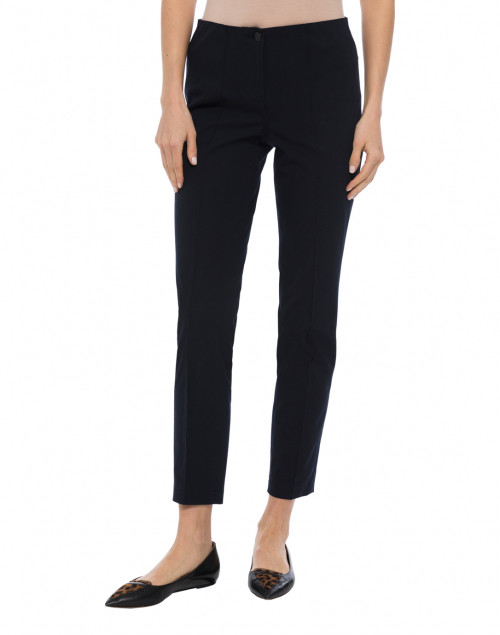 Cambio - Ros Navy Cotton Stretch Pant