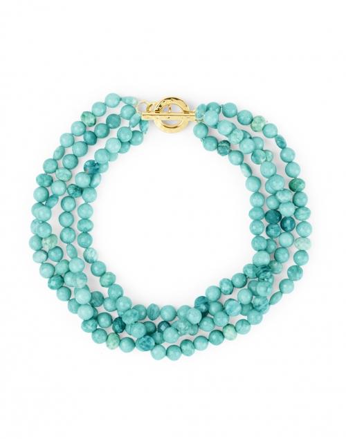 Nest - Amazonite Bead Triple Strand Necklace