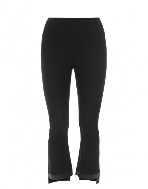 Elaine Kim - Olga Black Cropped Flare Tech Stretch Leggings