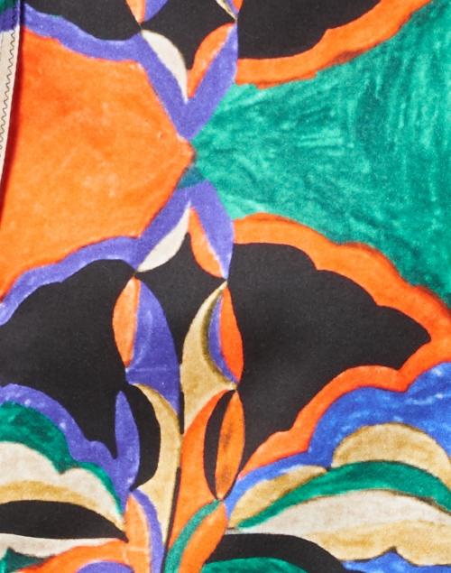 Kobi Halperin - Angie Blue and Orange Printed Stretch Cotton Dress