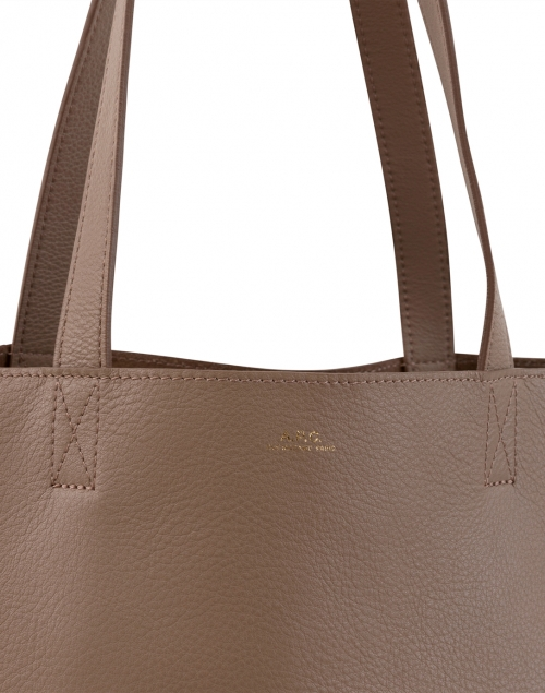 A.P.C. - Maiko Taupe Leather Tote Bag