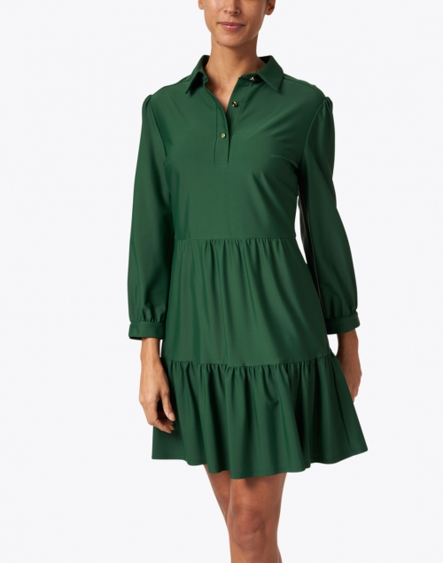 Jude Connally - Henley Kelly Green Shirt Dress