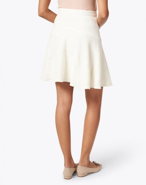 Shoshanna - Vani White Stretch Cotton Poly Skirt