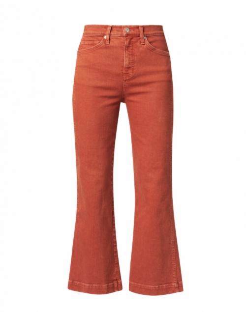 Veronica Beard Carson Cinnamon High Rise Ankle Flare Pant