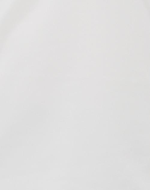 Gretchen Scott - White Ruffle Neck Top