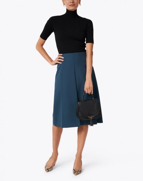 Joseph - Skyl Petrol Green Wool Pleated Skirt