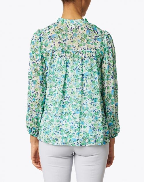Shoshanna - Edie Green Floral Print Chiffon Blouse