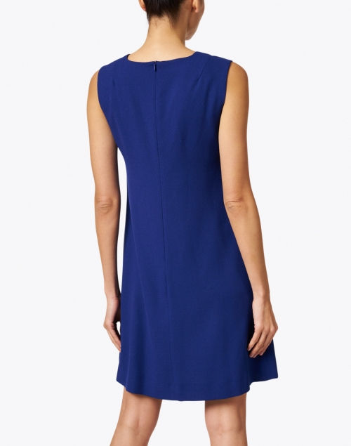 Goat - Lois Marine Blue Wool Crepe Dress